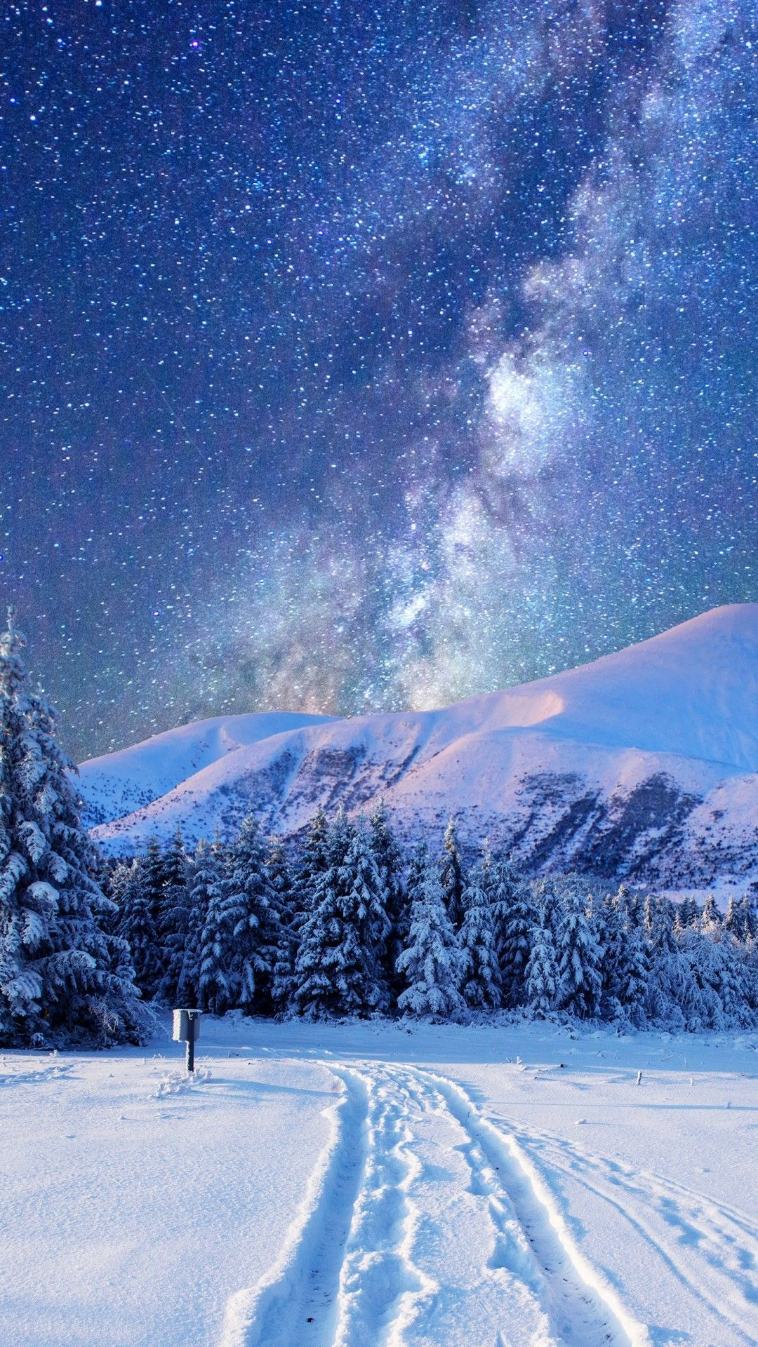 Night Snow Wallpaper Android in 2020 Iphone wallpaper
