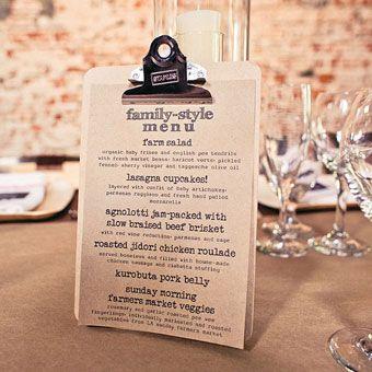 14 Creative Wedding Menu Displays | vintage wedding ideas ...