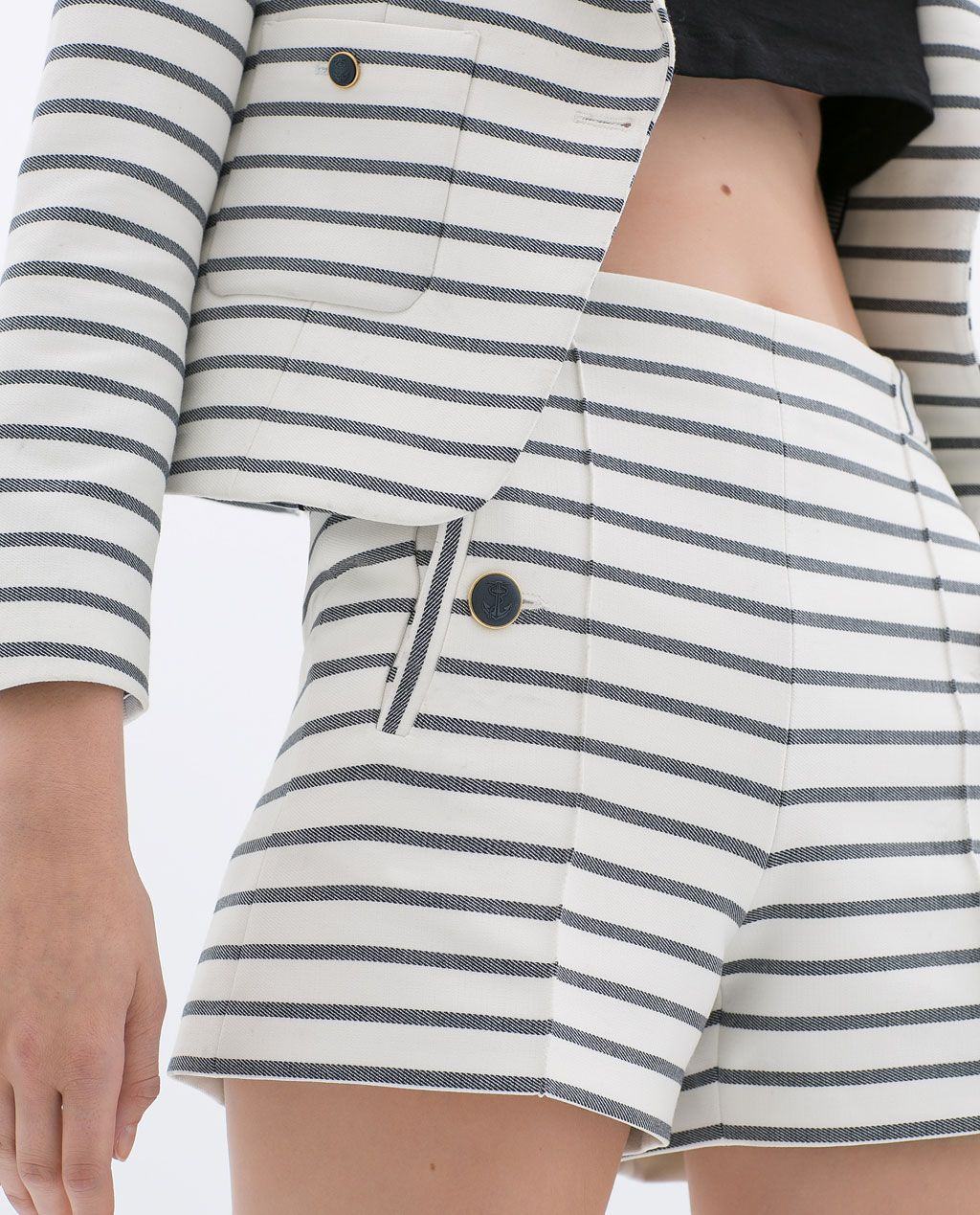 Image 7 of STRIPED SHORTS from Zara