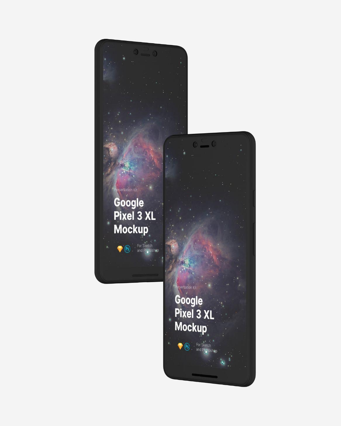 Free Google Pixel 3 XL Mockup uidesign appdesign