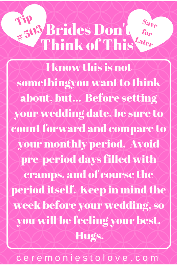 Here Is A Planning Tip That Brides Should Not Ignore It Will Improve Your Wedding And Day When You Know What To Expect From Body
