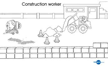 Construction Worker - Printables - Colouring Pages | Construction ...