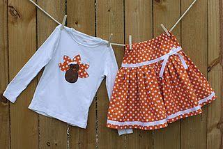 Orange Polka dots & Turkey