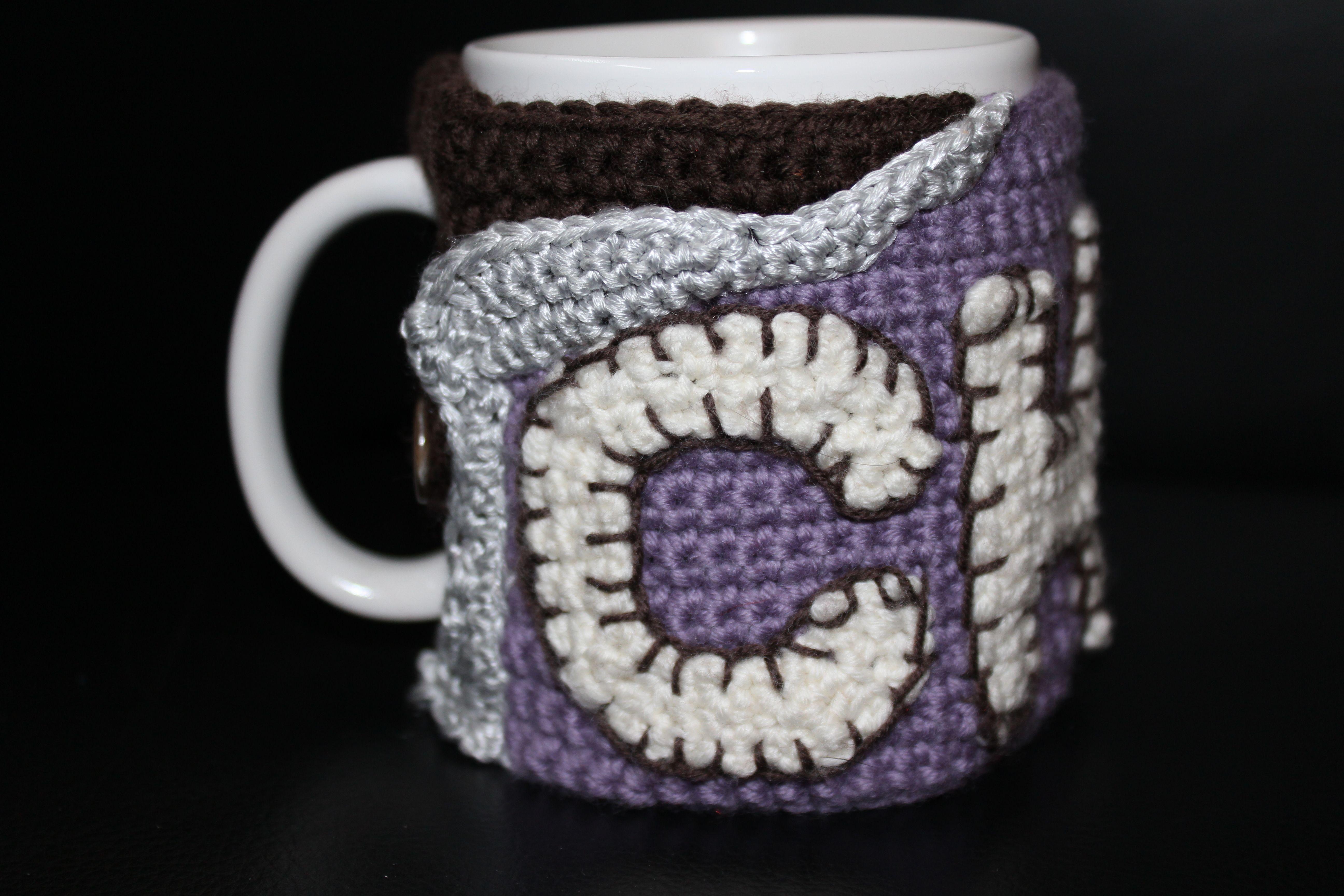 Crocheted CHOC mug cosy