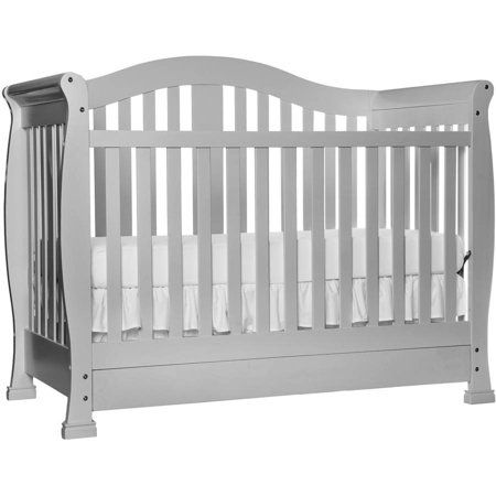 Dream On Me Addison 5 In 1 Convertible Crib With Drawer Mystic