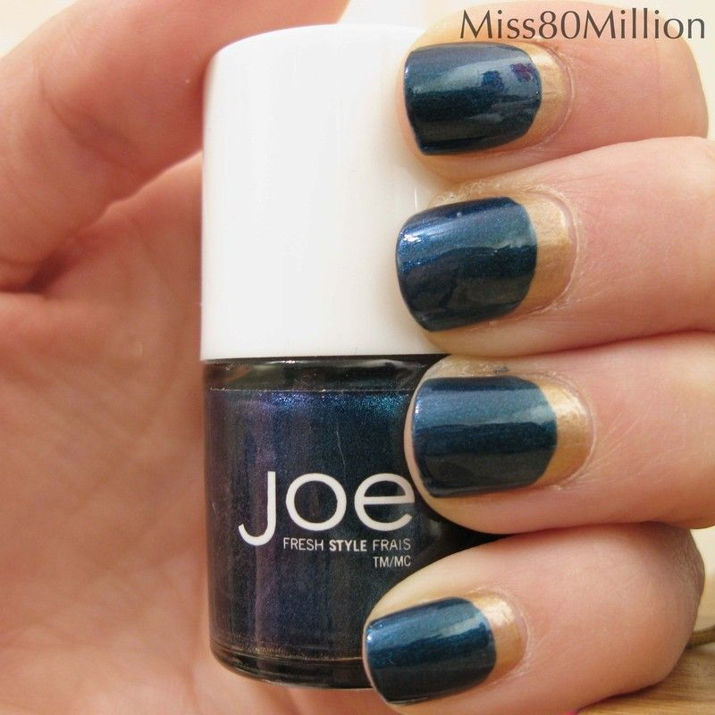 Ruffian Style Nail Art Reverse French Nail | Reverse french nails ...