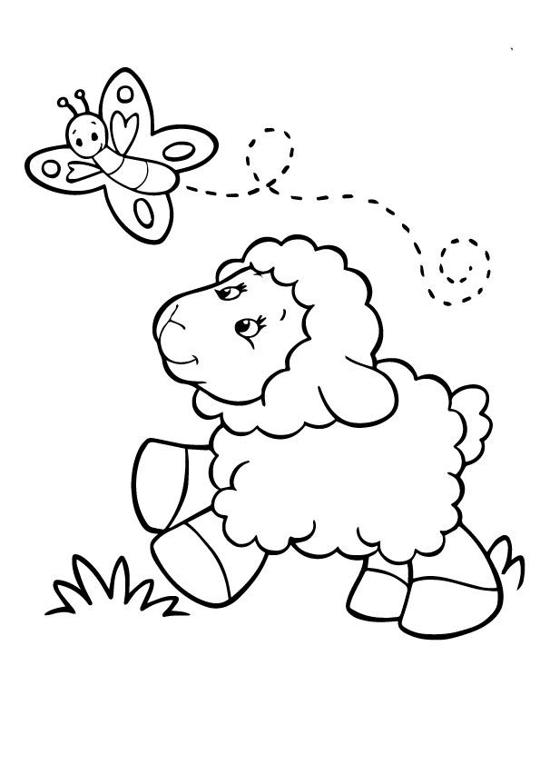 A Sheep Coloring Betterfly Butterfly Coloring Page Coloring