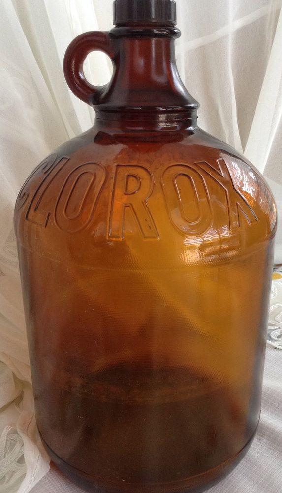 Vintage Bleach Glass Jug For Bathroom Brown Glass Bottles