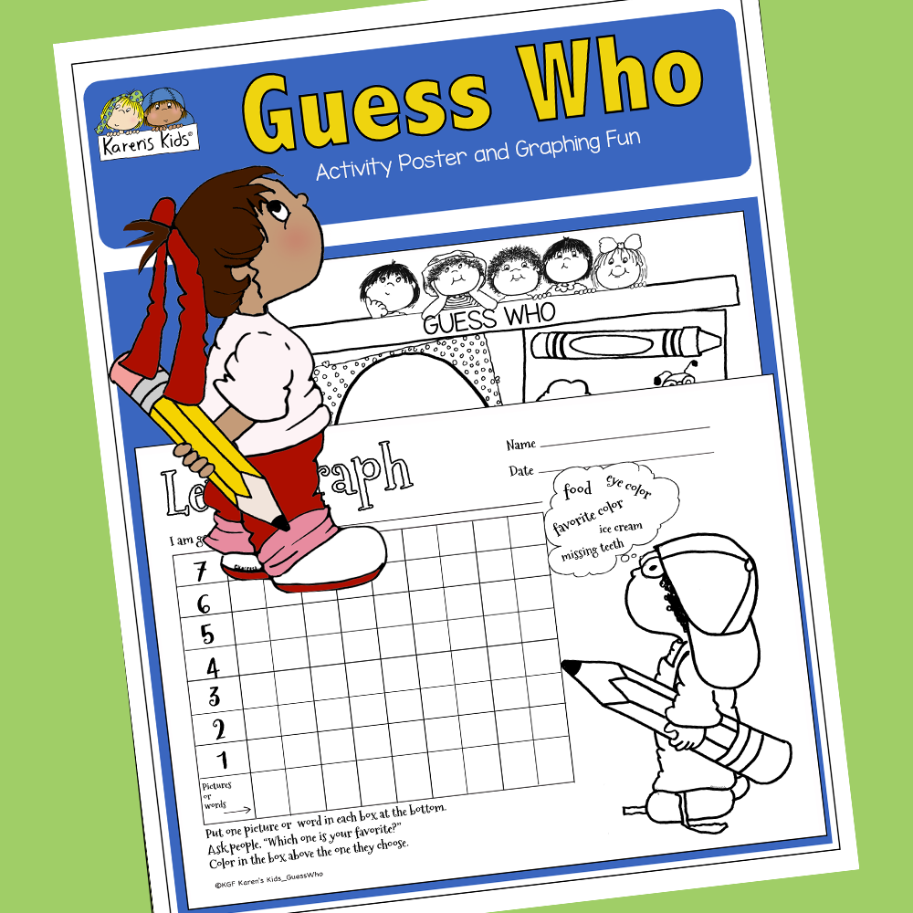 Photo of GUESS WHO Poster and Graph (Karen's Kids Printables)