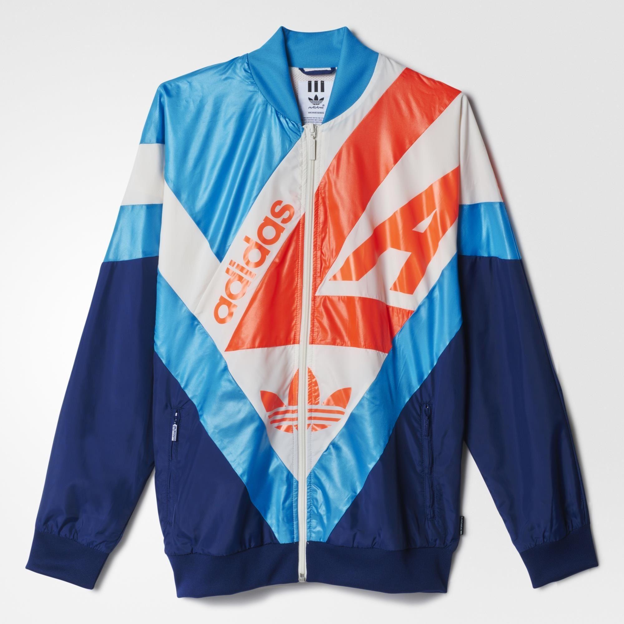 Adidas Archive Supergirl Windbreaker Blue Adidas Us Adidas Jacket Adidas Retro Jackets [ 2000 x 2000 Pixel ]