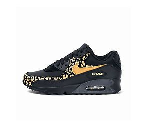 Nike Air Max 90 Leopard Womens Black Gold Trainers | To wear