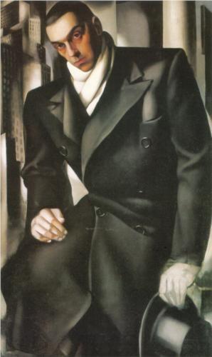 """Portrait of a Man""/""Mr. Tadeusz de Lempicki"", 1928, by Tamara De Lempicka (Polish-American, 1898-1980)"