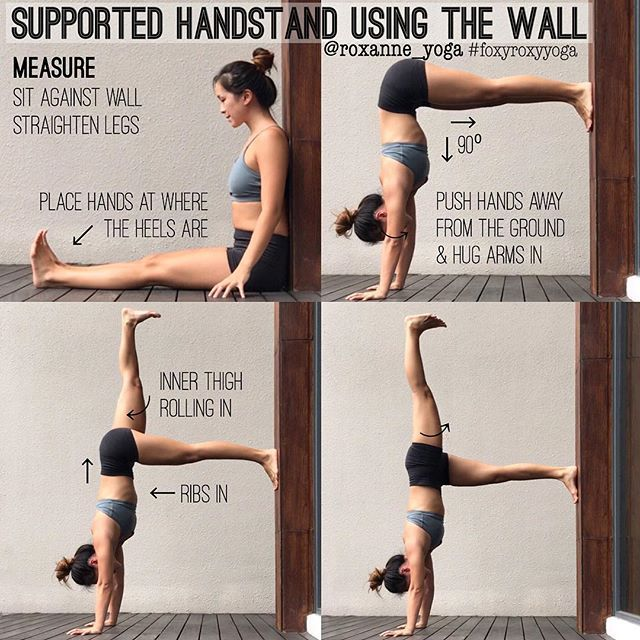 1bad77433922 Kicking up the wall to get into handstand might not be accessible to  everyone. I remember struggling to kick the legs up when I started learning  to ...
