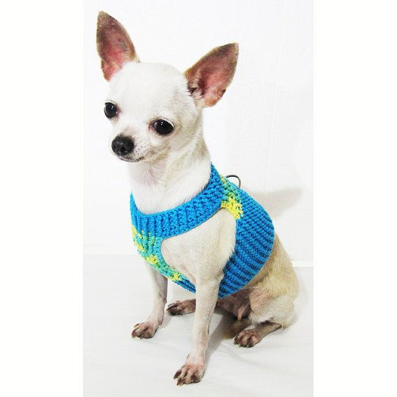Choke Free Soft Dog Harness Cotton Handmade Crochet Pet Collars and ...