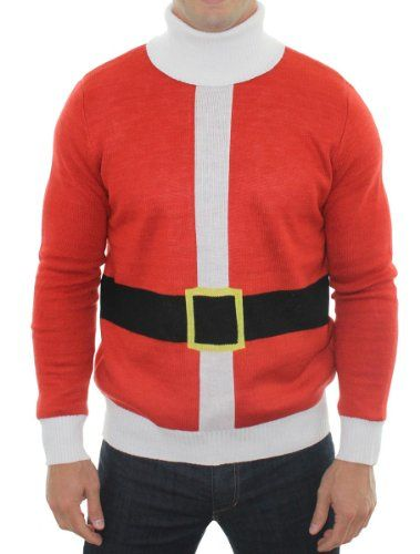 Ugly Christmas Sweater - Santa Sweater by Tipsy Elves (L) Tipsy