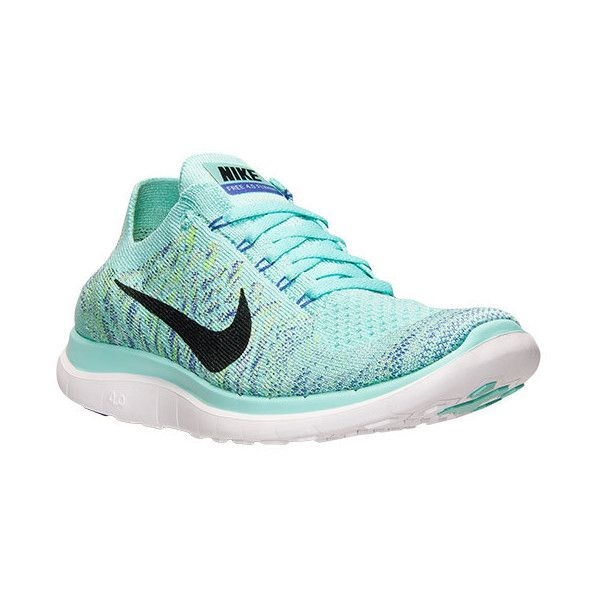 Nike Free Flyknit 4.0 Womens Running Shoes Hyper Turquoise/Black/Volt 717076-300