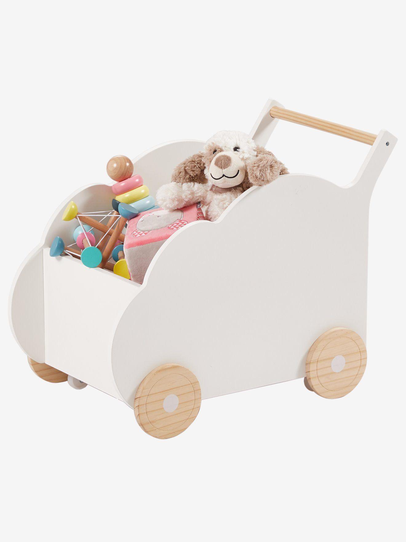 Box On Wheels Cloud White Light Solid With Design Bedroom Furniture Storage Vertbaudet Storage Kids Room Diy Dolls Pram Wooden Baby Walker