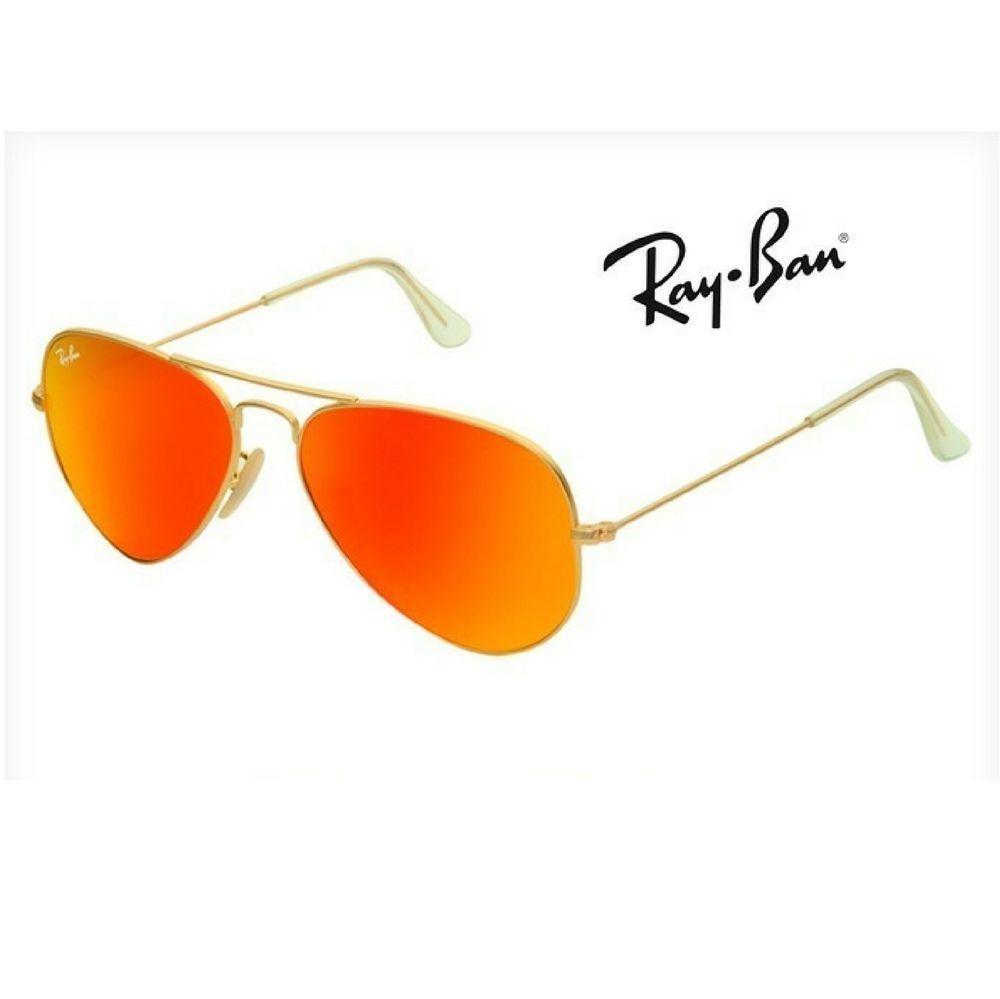 Oculos Espelhado Vermelho Aviador Rb3026 Original + Brinde   oculos ... cd0b5f2864
