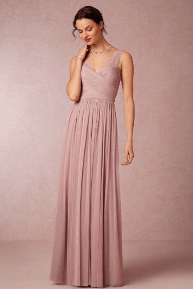 ANTHROPOLOGIE BHLDN Rose Quartz Hitherto Fleur Bridesmaid Dress Sz 4