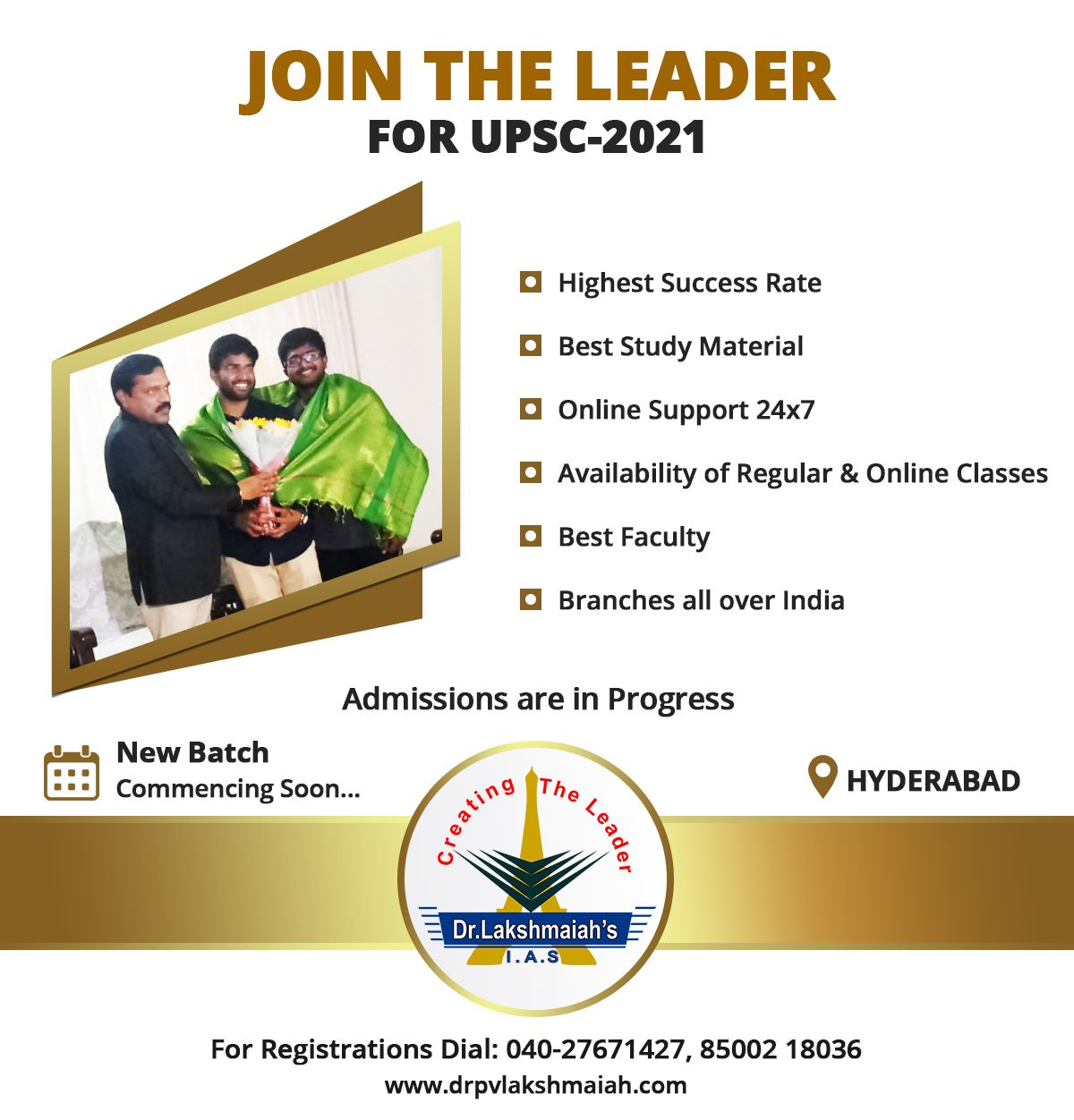 Join The Leader For Upsc 2021 Dr Lakshmaiah Ias Study Circle In 2020 Study Online Classes Study Materials