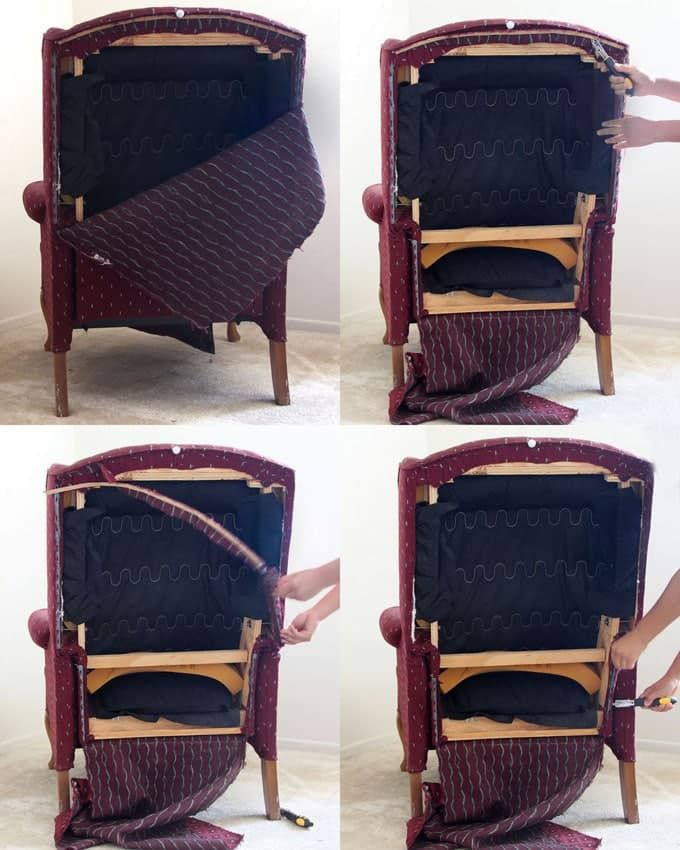 Fabric Chair Makeover Before After. A WingRecliner ...