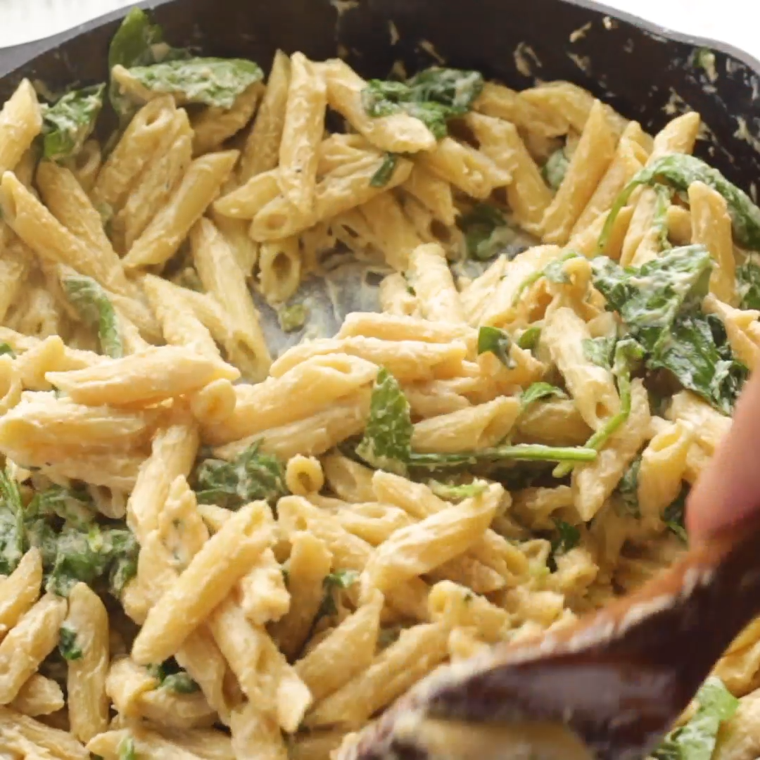 One-Pot Creamy Spinach Pasta