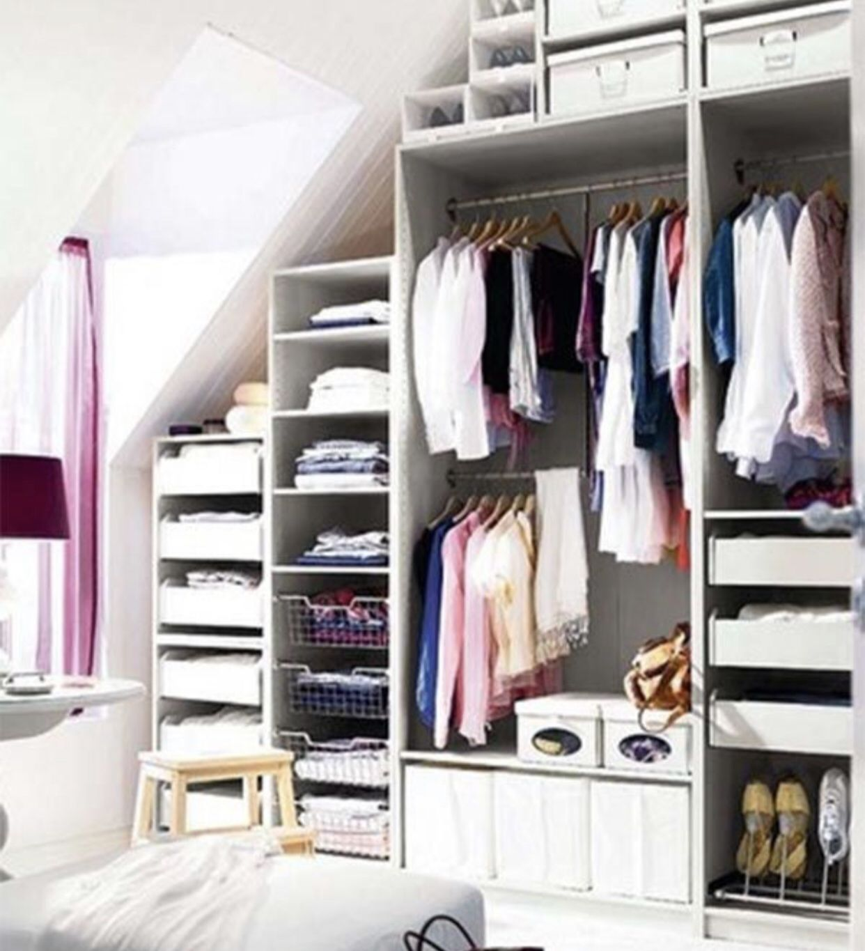 Organize your clothes and only buy what you need. Wardrobe ...