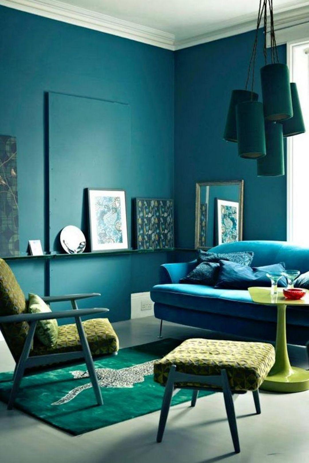 Beautiful Color Harmony Interior Design Ideas 110 Turquoise Room