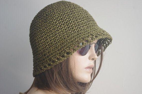98e28c579ea Hand Crochet Hemp Women hat bucket hat Crochet Summer by yagmurhat ...