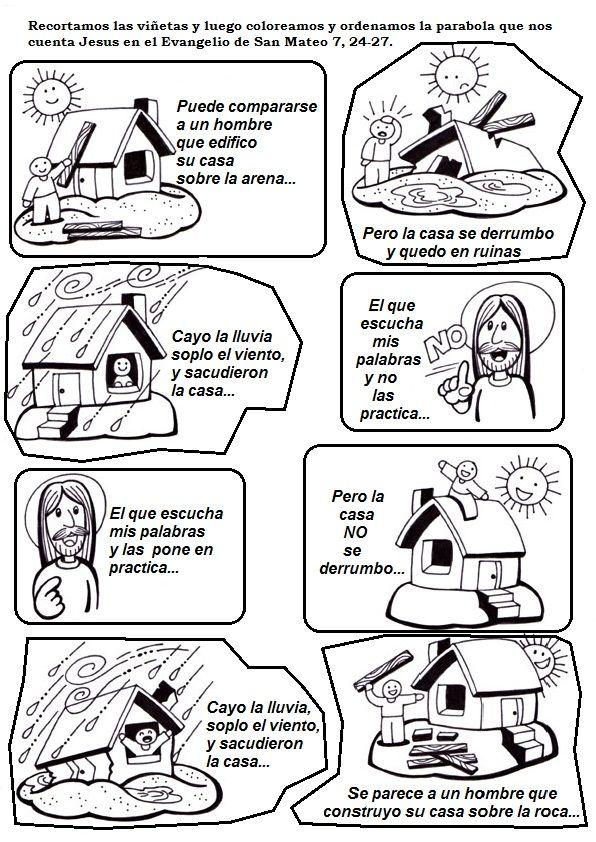 Casa Sobre La Roca Lecciones Bíblicas Infantiles Escue