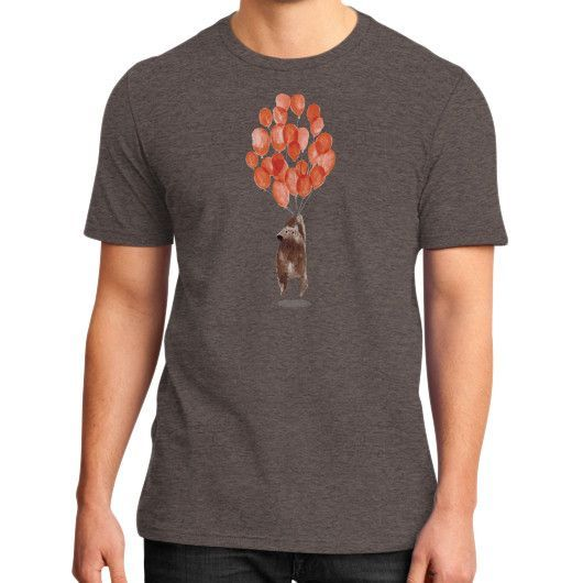 Bear with balloons District T-Shirt (on man)