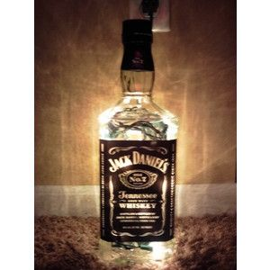 High Quality Large Lighted Jack Daniels Bottle Decorative Glass Lamp No. 7 Great For Man  Cave