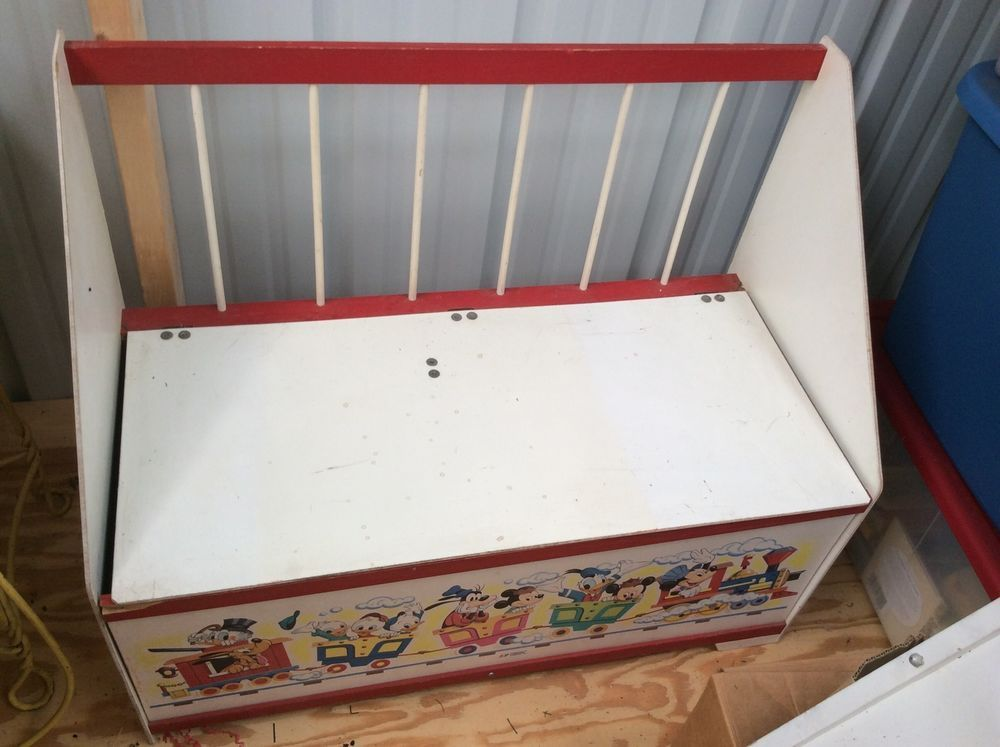 Vintage Mickey Mouse Wooden Toy Box Disney Wooden Toy Boxes Fun Storage Mickey Mouse Clubhouse Toys