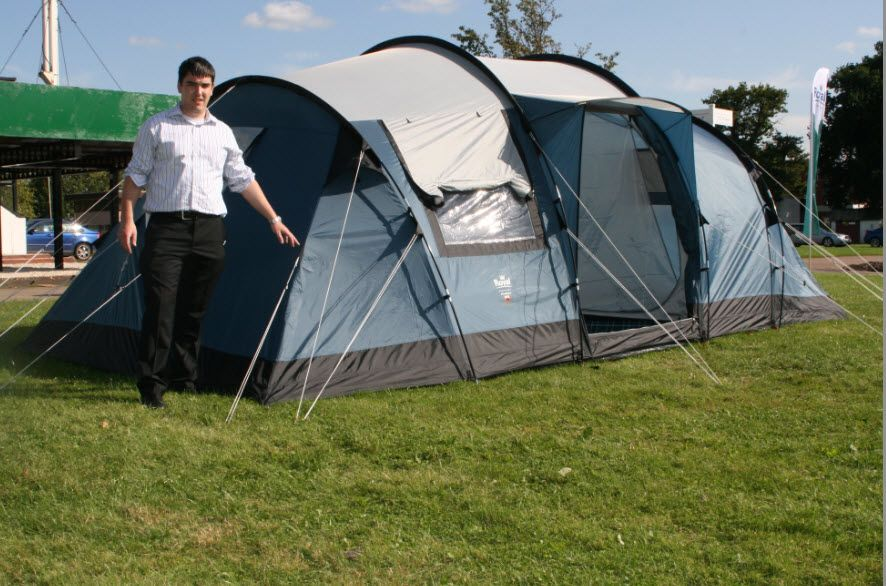 Tents - Fantastic family six berth Tunnel Tent with standing room  3 separate bedrooms u0026 & Tents - Fantastic family six berth Tunnel Tent with standing room ...
