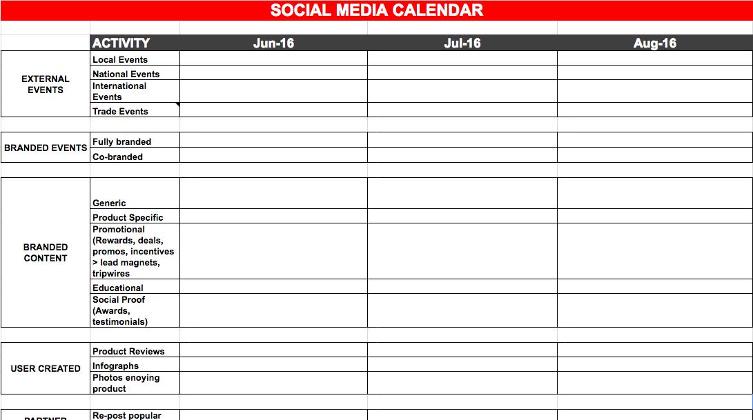social media campaign template