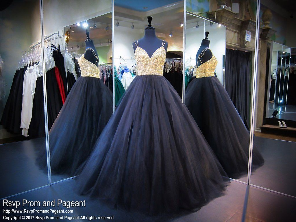 Blackgold sweetheart aline ball gown prom dress ball gown prom