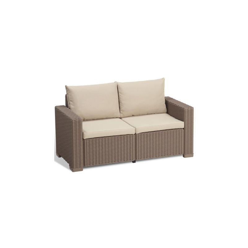 sofa ratan resina 2 plazas california capuccino curver