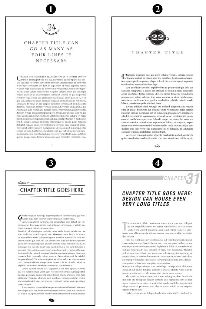 Page Formatting Examples Book Design Book Layout Book Design