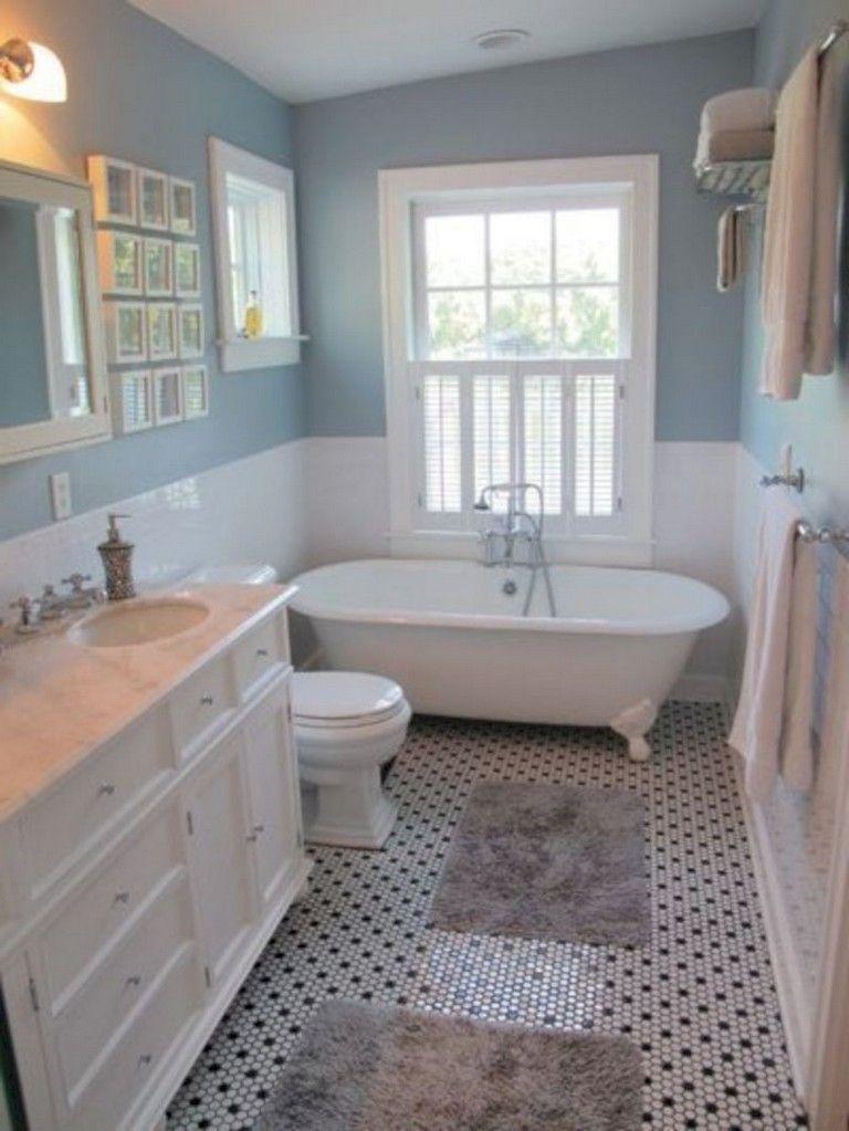 40 Stunning Boho Master Bathroom Design Decor Ideas Small Farmhouse Bathroom Cottage Bathroom Small Country Bathrooms