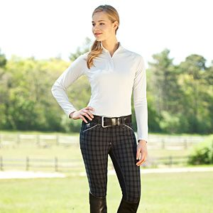 Piper Plaid Full Seat Breeches by SmartPak - Blue, size 32R ...