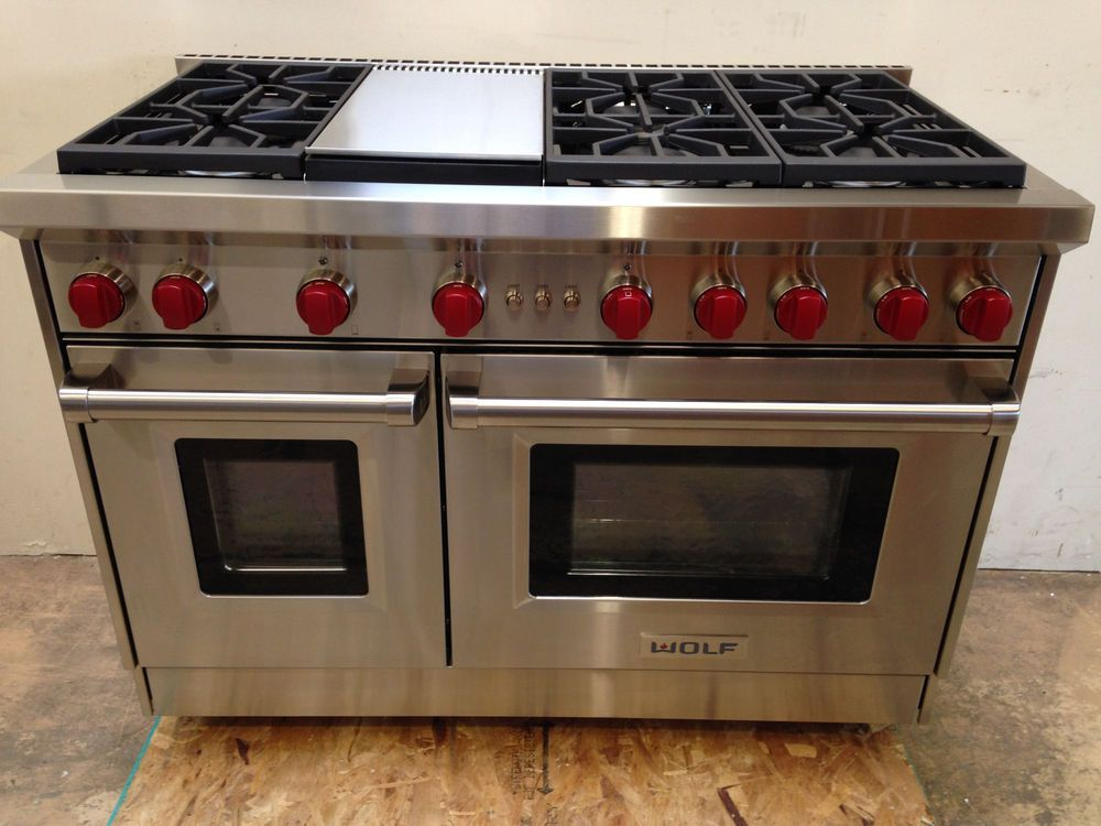wolf professional gas range stove burners griddle 48 reviews double oven rangetop