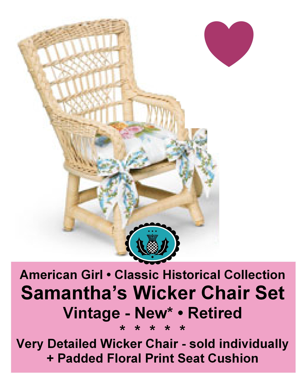 American Girl_SAMANTHA's WICKER CHAIR   American Girl _
