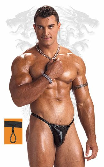 Words... super, Muscle men in thong apologise