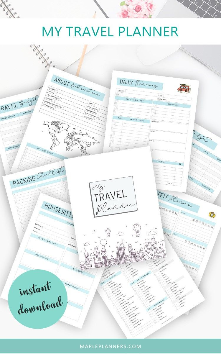 Travel Planner: Free Travel Packing Checklist