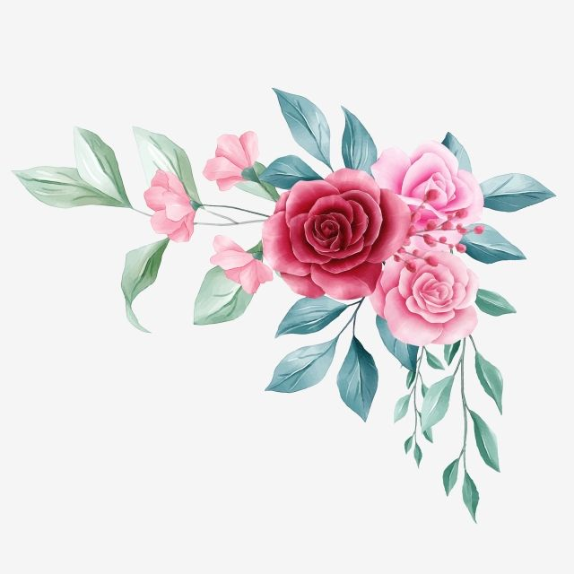 Beautiful Floral Border For Wedding Or Greeting Card Composition Wedding Invitation Flowers Png Transparent Clipart Image And Psd File For Free Download Floral Poster Floral Watercolor Flower Drawing