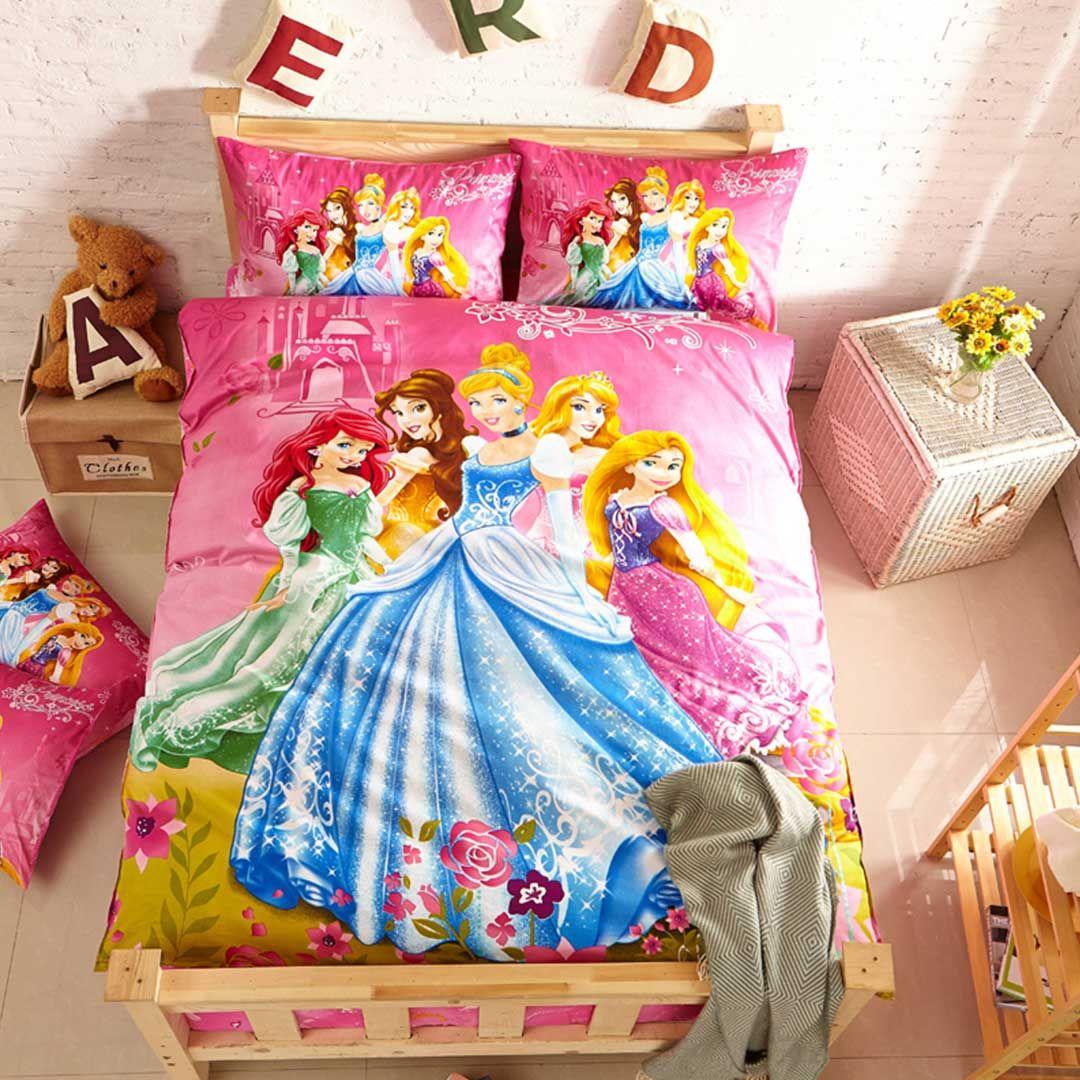 Girls Disney Princess Bedding Set Twin Size Disney Princess