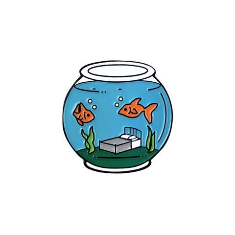 'Sleep with the Fishes' Lapel Pin - Lil Bullies - 1