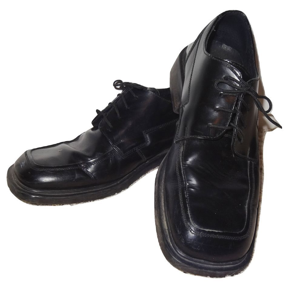 57b12ba4f7e Kenneth Cole Reaction Shoes Oxford Black Leather Lace Up Dress Men Sz 9.5  EUC SL  KennethColeReaction  Oxfords