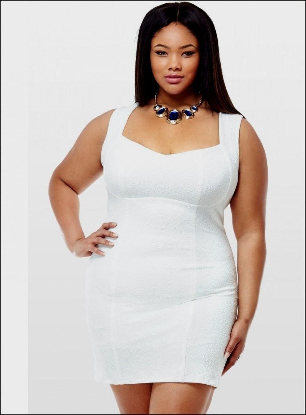 White bodycon dress plus size World dresses | Big Beautiful Women ...