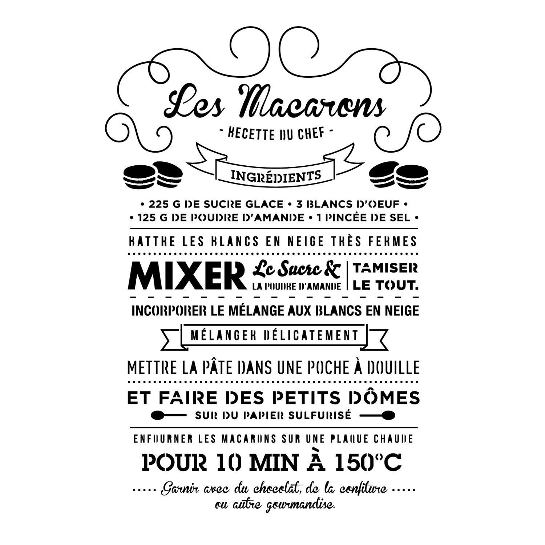 Pochoir Macaron MAISON DECO Leroy Merlin Home Sweet Home